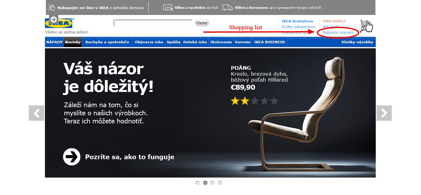 www.manandvan.sk Ikea shopping Shopping list button