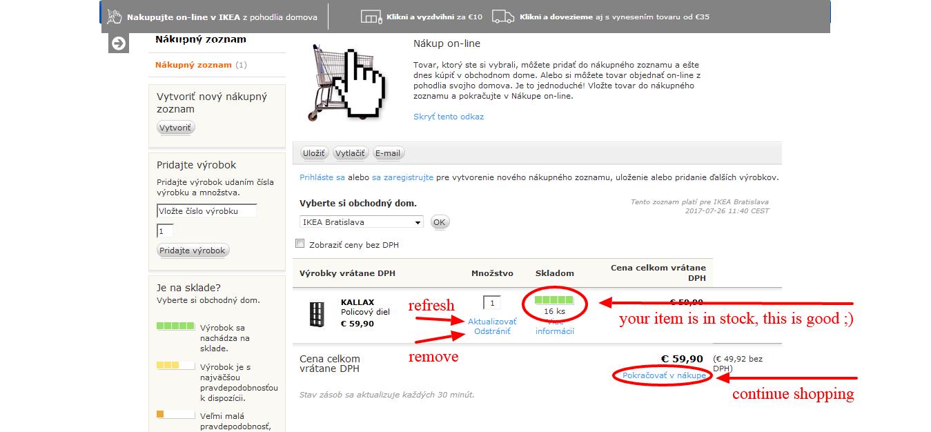 www.manandvan.sk Ikea shopping guide Shopping list explained
